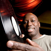Photo © Joel Chant.DJ Papa Dudu Sarr seen here in West London bar Momo, 14/11/06