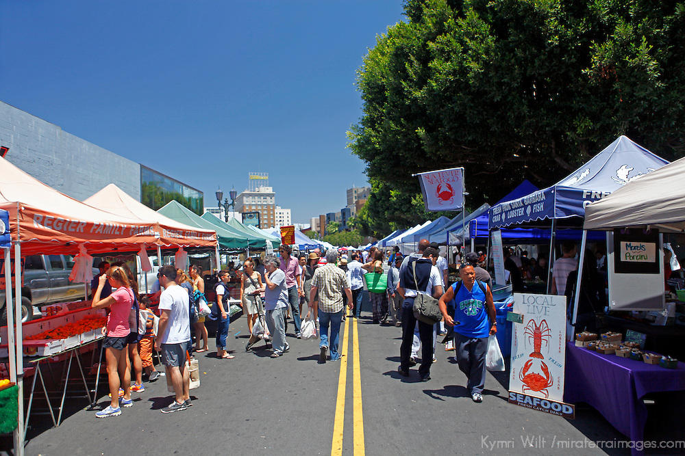 USA, California, Los Angeles. Hollywood Farmer's Market.