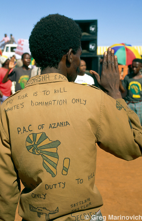 Pan African Congress supporter, Vaal Triangle, South Africa.