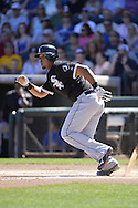 SURPRISE, AZ - MARCH 10:  Jose Abreu #79 of the Chicago White Sox bats during the spring training game between the Kansas City Royals and Chicago White Sox on March 10, 2015 at Surprise Stadium in Surprise, Arizona. (Photo by Ron Vesely)   Subject:  Jose Abreu