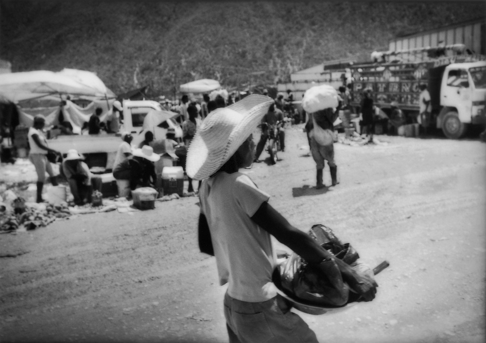 Border market between Jimani, Dominican Republic and Malpasse, Haiti.