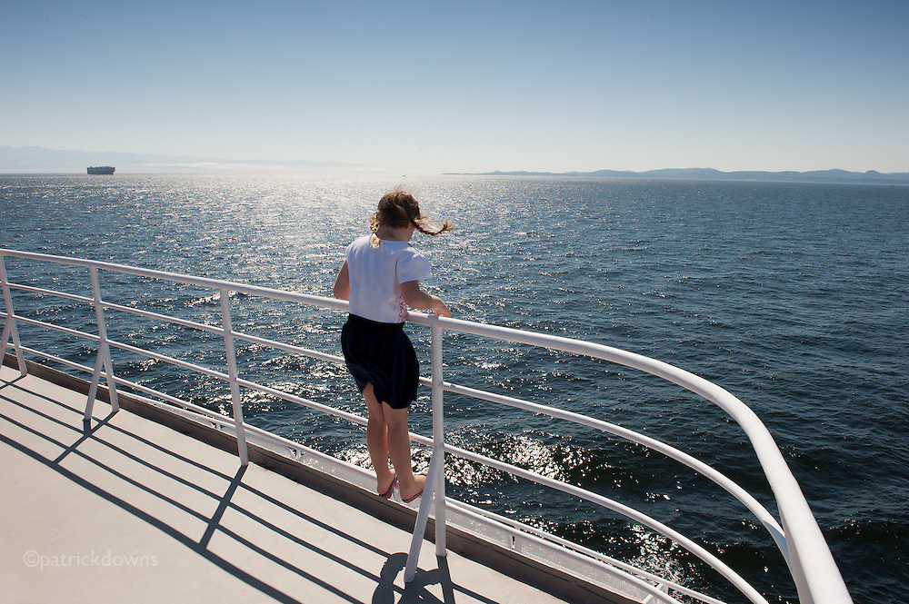 Riding the rail on the Black Ball Ferry from B.C.