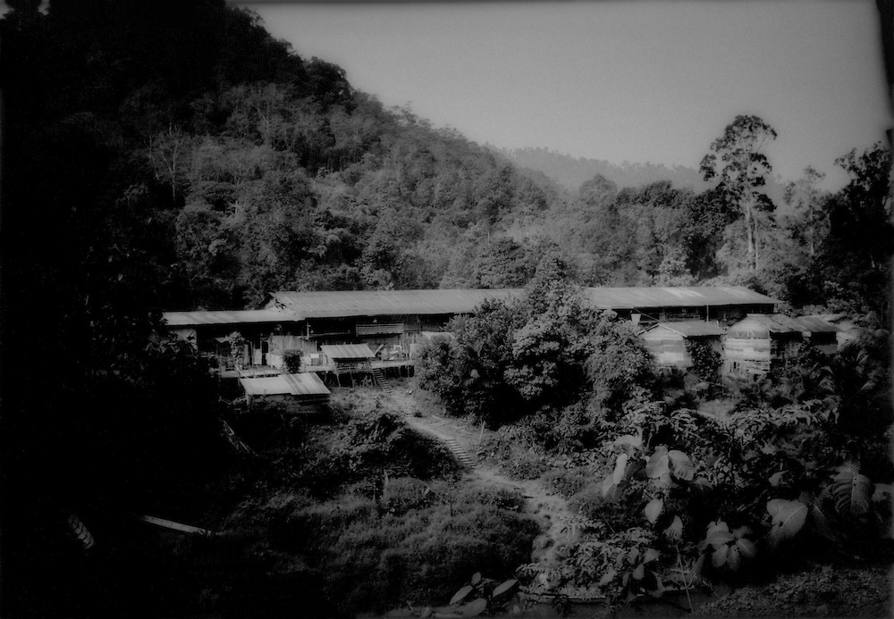Lost paradise: Rumah Lawan Longhouse, Last longhouse on the Sungai Gaat River deep in the interior near the Indonesia border, Sarawak, Malaysian Borneo.   Rumah Lawan used to be two and halfdays upriver from Kapit but is accessible in only two hours now because of private logging roads.