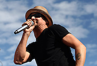 Nov 18, 2012; Homestead, FL, USA; Recording artist Kid Rock performs before the Ford EcoBoost 400 at Homestead Miami Speedway.