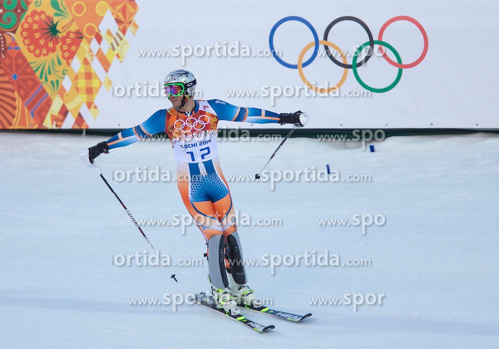 14.02.2014, Rosa Khutor Alpine Center, Krasnaya Polyana, RUS, Sochi 2014, Super- Kombination, Herren, Slalom, im Bild Aksel Lund Svindal (NOR) // Aksel Lund Svindal of Norway during the Slalom of the mens Super Combined of the Olympic Winter Games 'Sochi 2014' at the Rosa Khutor Alpine Center in Krasnaya Polyana, Russia on 2014/02/14. EXPA Pictures © 2014, PhotoCredit: EXPA/ Johann Groder