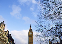Big Ben and the Houses of Parliament, Westminster, London, England