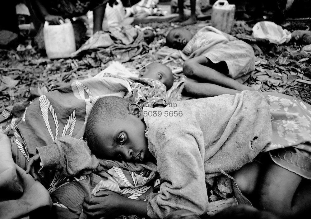 Children with cholera in Goma. April 1994.