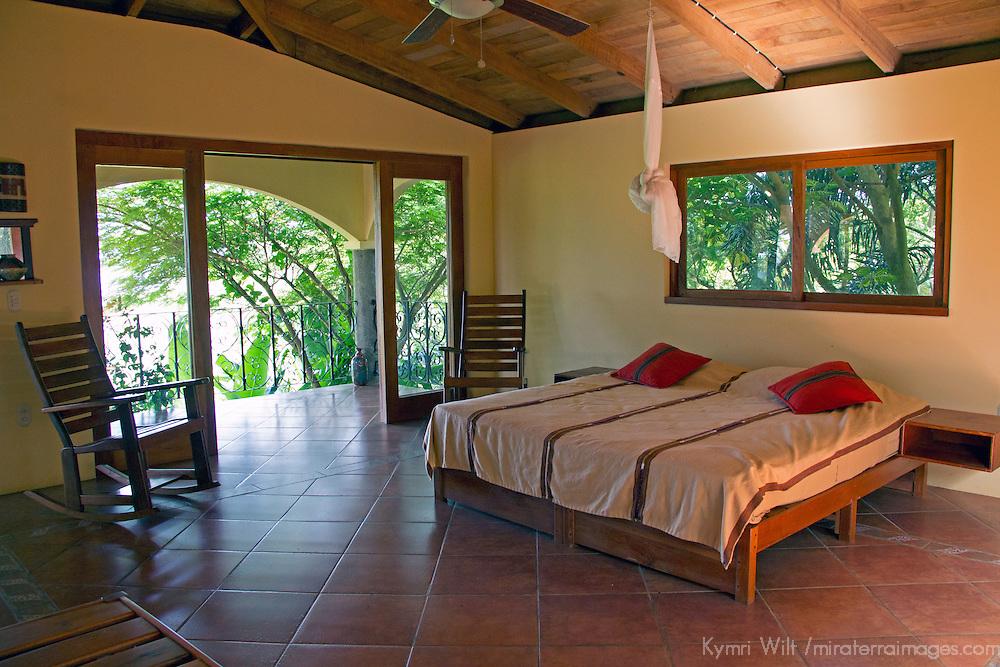 Central America, Nicaragua, San Juan del Sur. Cloud Farm Bedroom (Finca las Nubes).