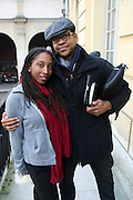 January 17, 2013- Paris, France- (L-R) Photographers Ayana V. Jackson and Lyle Aston Harris attends the Black Portraiture(s): The Black Body in the West Conference Day 1 held at Ecole national superieure des beaux-arts on January 17, 2013 in Paris, France. The Black Body in the West, the fifth in a series of conferences organized by Harvard University and NYU since 2004 explores ideas of the production of self-representation, desire and the exchange gaze from the 19th century to the present day in fashion, film, art and the archives. (Terrence Jennings)