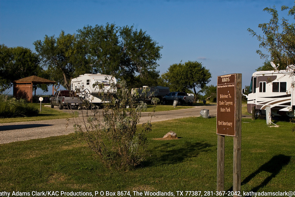 Campground, with RVs, Choke Canyon State Park, Coastal, Texas.
