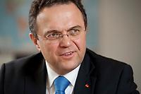 03 JAN 2011, BERLIN/GERMANY:<br /> Hans-Peter Friedrich, MdB, CSU, Vorsitzender der CSU Landesgruppe im Deutschen Bundestag, waehrend einem Interview, in seinem Buero, Jakob-Kaiser-Haus, Deutscher Bundestag<br /> IMAGE: 20110103-01-024