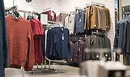 Interior of Topman men's clothing Shop - Nov 2014.