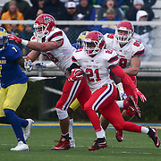 Stony Brook running back STACEY BEDELL (21) rushes 33 yards for a touchdown during a week eight game between the Delaware Blue Hens and the Stony Brook Seawolves, Saturday, Oct. 22, 2016 at Tubby Raymond Field at Delaware Stadium in Newark, DE.