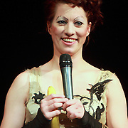 """Amanda Palmer performs on November 9th, 2011 during the """"An Evening with Neil Gaiman & Amanda Palmer""""  at the Moore Theatre."""
