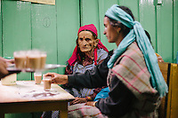 Local people in traditional Kullu attire being served tea at Kullu. Kullu Dussehra is the Dussehra festival observed in the month of October in Himachal Pradesh state in northern India. It is celebrated in the Dhalpur maidan in the Kullu valley. Dussehra at Kullu commences on the tenth day of the rising moon, i.e. on 'Vijay Dashmi' day itself and continues for seven days. Its history dates back to the 17th century when local King Jagat Singh installed an idol of Raghunath on his throne as a mark of penance. After this, god Raghunath was declared as the ruling deity of the Valley.