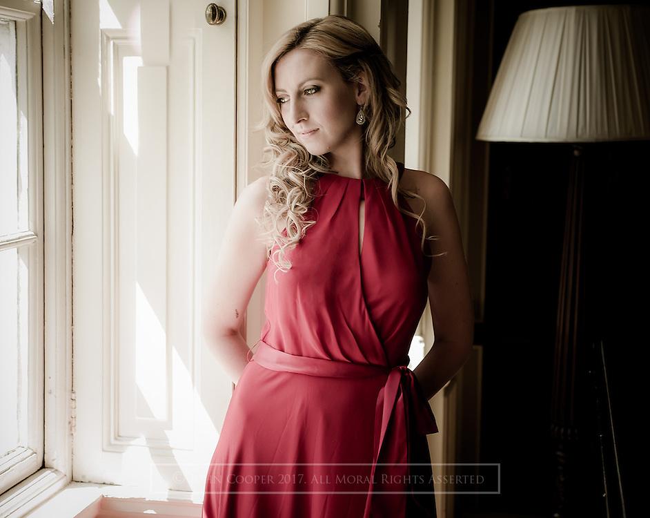 Portrait of soprano, Jessica Leary.