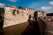 CUBA, HAVANA (HABANA VIEJA) Castillo Real de la Fuerza, oldest colonial fortress in the Americas and a key part of the city's defenses