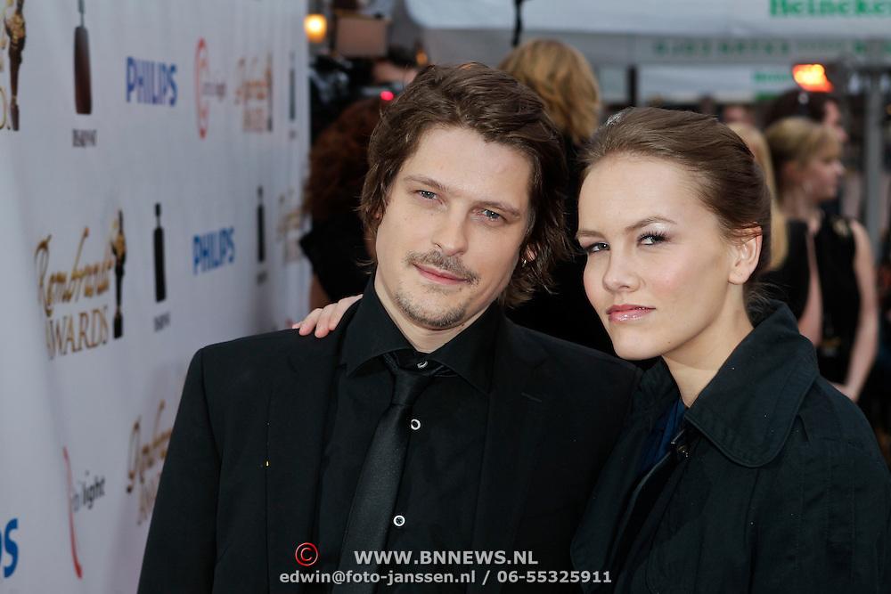 NLD/Amsterdam/20120312 - Uitreiking Rembrandt Awards 2012, Teun Kuilboer en partner