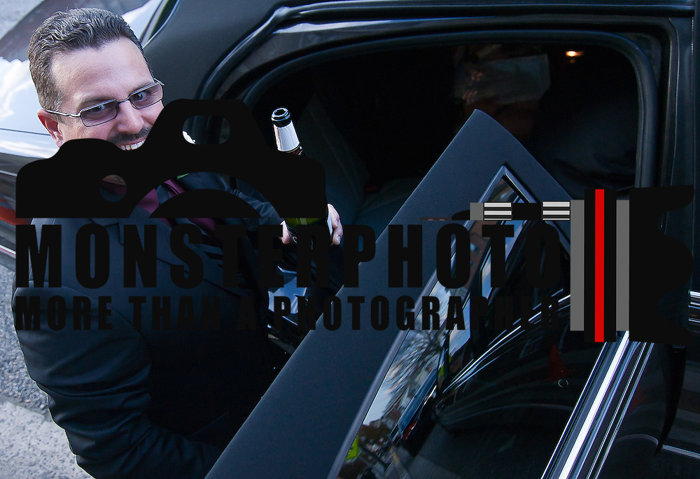 11/11/11 Elkton MD: Jason Vavala of Wilmington Delaware getting into the limousine after being married Friday, Nov. 11, 2011 at Elkton Wedding Chapel in Elkton Maryland.<br /> <br /> Special to The News Journal/SAQUAN STIMPSON