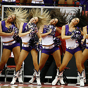 TCU cheerleaders perform as BYU plays against TCU as they compete in the Mountain West Conference basketball Championship Tournament at the Thomas & Mack Center in Las Vegas, Nevada Thursday, March 11, 2010.  August Miller, Deseret News .