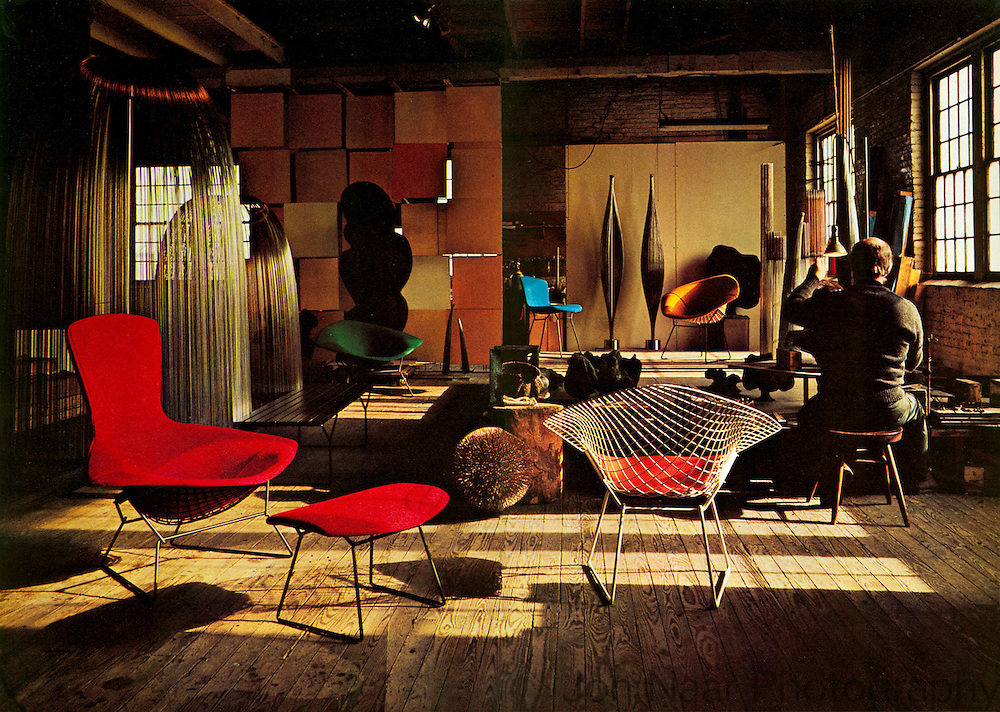 Harry Bertoia in Studio.