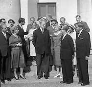 Swedish Gynecologists visit Eamon de Valera, 09/09/1959.