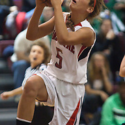 12/27/11 Wilmington DE: Ursuline Academy Guard Mary Abram #5 drives the lane during a Diamond State Classic game Tuesday Dec. 27, 2011 at St. Elizabeth High School High School in Wilmington Delaware...Special to The News Journal/SAQUAN STIMPSON