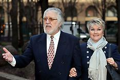 FEB 13 2014 Dave Lee Travis arrives at Southwark Court
