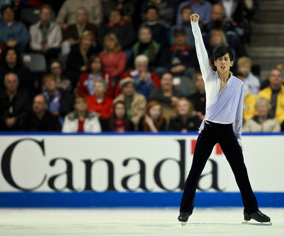 20101030 -- Kingston, Ontario -- Jeremy Ten of Canada skates his free skate at Skate Canada International in Kingston, Ontario, Canada, October 30, 2010. <br /> AFP PHOTO/Geoff Robins
