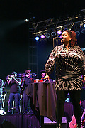 Jill Scott performs at The 26th Annual Martin Luther King Series held at Wingate Field in  Brooklyn, NY on August  11, 2008