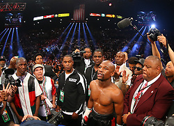 LAS VEGAS, NV - MAY 3: Floyd Mayweather Jr. before his  WBA/WBC welterweight unification fight against Marcos Maidana at the MGM Grand Garden Arena on May 3, 2014 in Las Vegas, Nevada. (Photo by Ed Mulholland/Golden Boy/Golden Boy via Getty Images) *** Local Caption ***Floyd Mayweather Jr.; Marcos Maidana