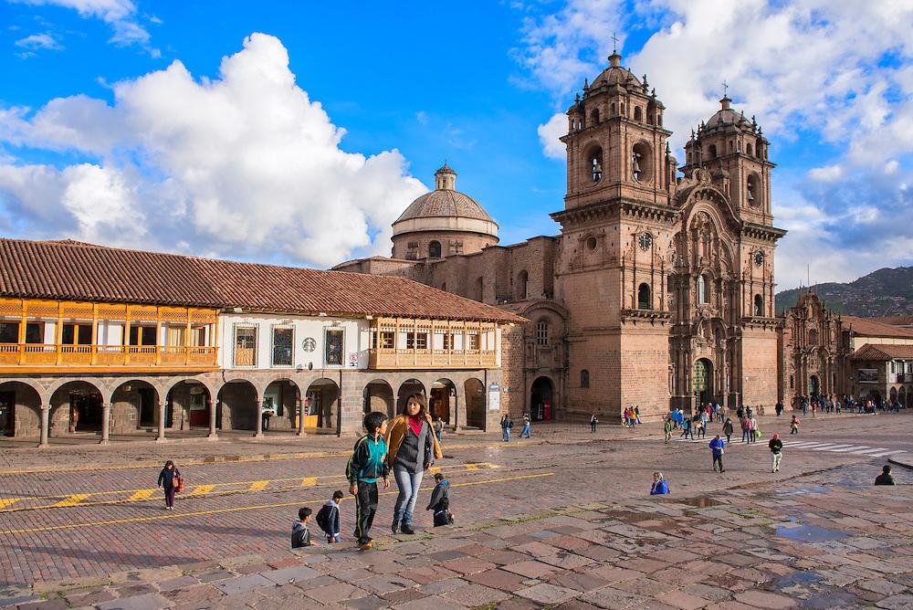 South America, Andes, Peru,Cusco,plaza de armas