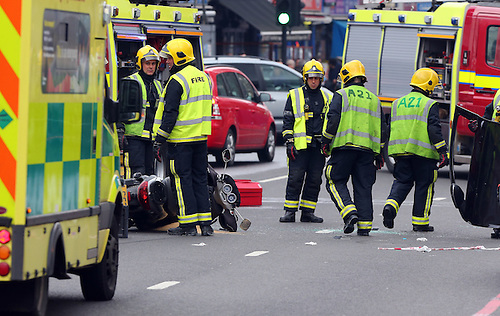 Road Traffic Accident on Edgware Road. | Gotcha Images
