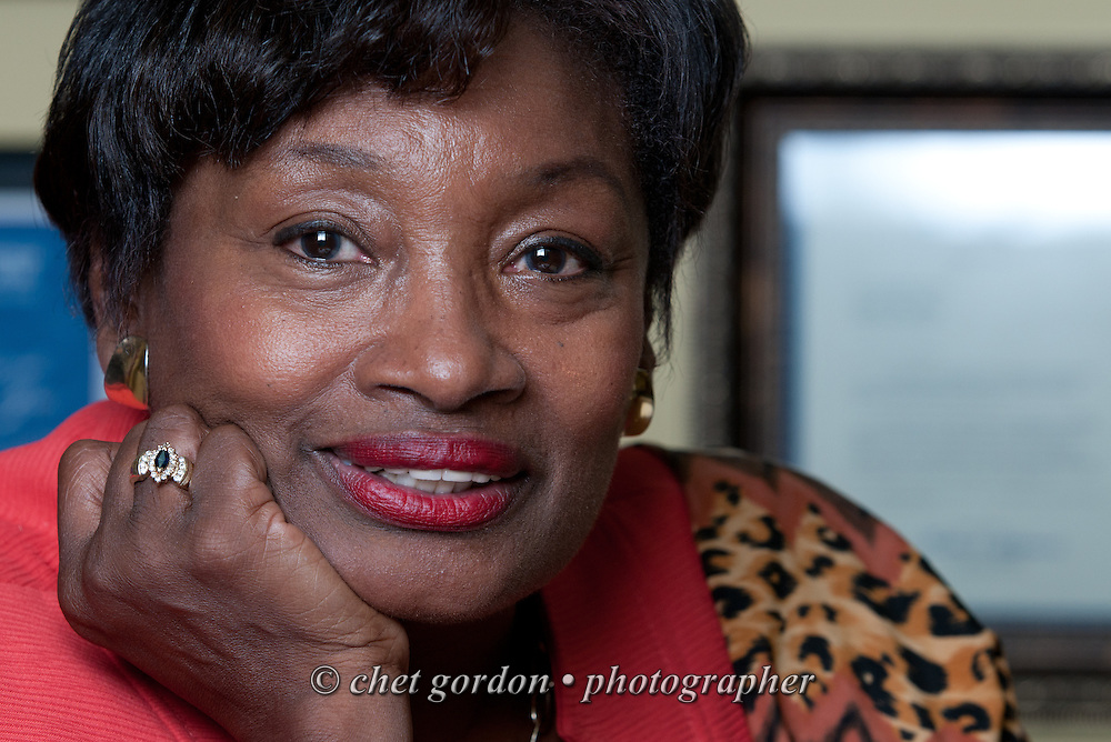 NY State Senator Andrea Stewart-Cousins (D - 35th. District) photographed in her Yonkers office on Thursday, June 26, 2014. Stewart-Cousins is leader of the NYS Senate Democratic Conference.  © Chet Gordon / Westchester Magazine