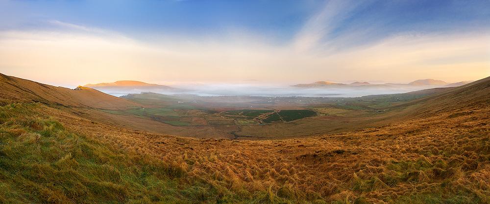 Misty Sunrise Panorama at Valentia Island, Ring of Kerry, County Kerry, Ireland / vl129