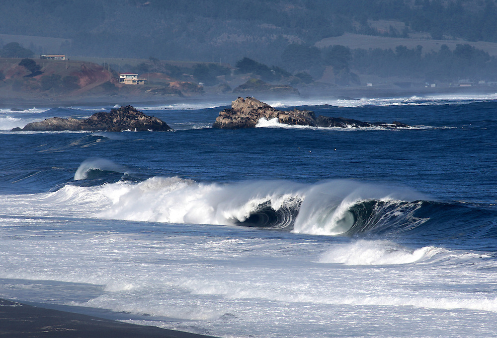 Large waves seascape, Biobio, Chile