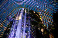 Singapore - A rainforest waterfall at the Garden The Bay