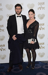 Alik Alfus and Louise Thompson attend The Chain Of Hope Ball at The Grosvenor House Hotel on Friday 21st November 2014