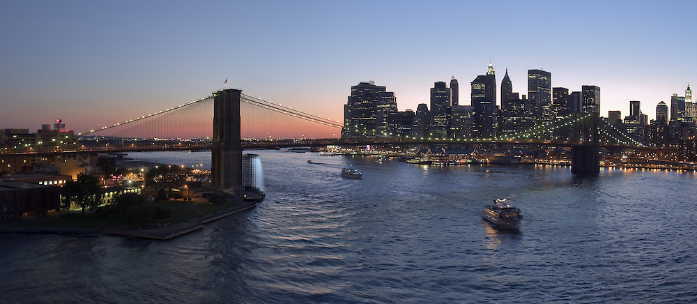 Panorama of New York on East River.