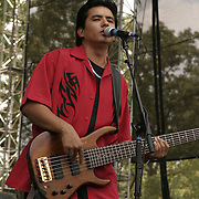 Jun 11, 2004; Manchester, TN, USA;  Los Lonely Boys performing at Bonnaroo 2004. Mandatory Credit: Photo by Bryan Rinnert/3Sight Photography