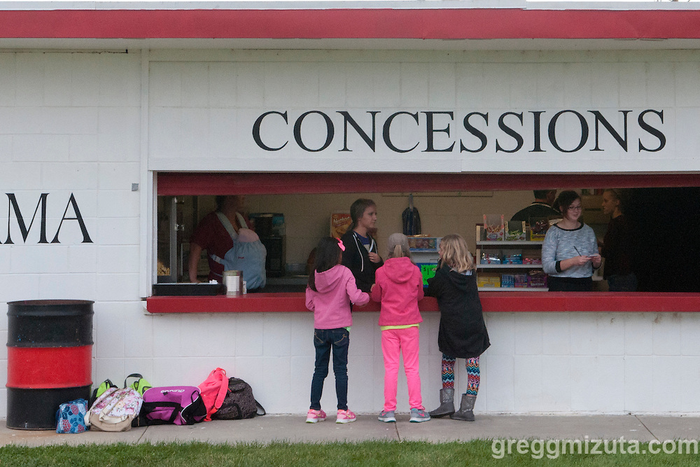 Concessions booth is open during the Vale - Parma football game, September 4, 2015 at Parma High School, Parma, Idaho. Vale won 31-10.