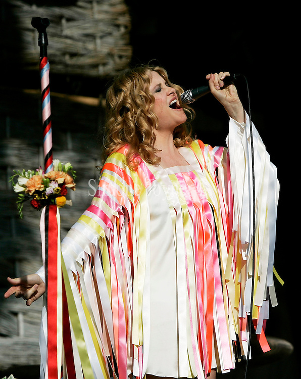 Alison Goldfrapp of Goldfrapp performs live on stage during day one of the Love Box Weekender at Victoria Park on July 20, 2008 in London England.  (Photo by Simone Joyner)