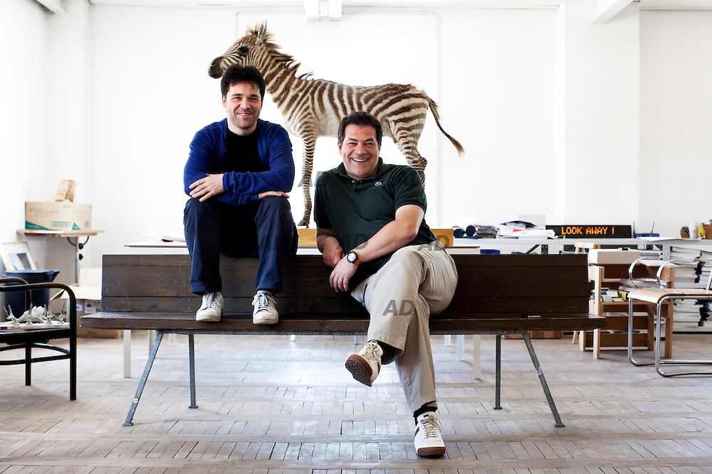 Bevk Perovic Architects was founded in 1997 by Matija Bevk (left) and Vasa Perovic (right). Here in their old studio, with a embalmed zebra belonged to Tito, former President of Yugoslavia.