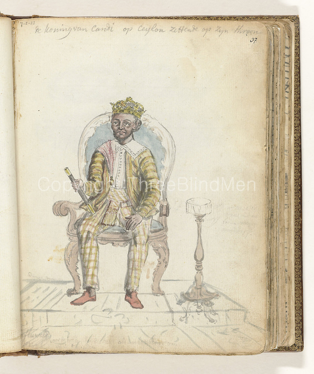 The King of Kandy, Sri Rajadi Raja Sinha, Jan Brandes, 1785<br />