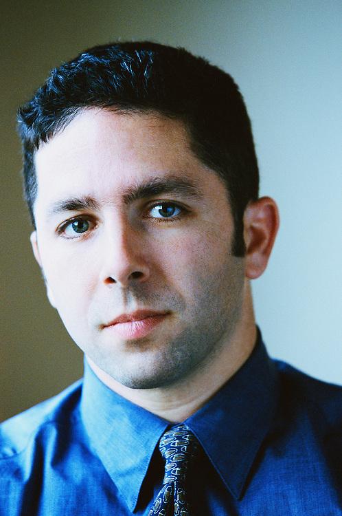 Businessman, portrait, close-up. Stock photo shoot, 1999.