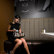 "SHOT 6/4/2007 - ""Working Girl"" fashion shoot for Shine Magazine with Heather Knapp of Donna Baldwin at The Corner Office restaurant at The Curtis hotel in Denver, Co..(Photo by Marc Piscotty / © 2007)"