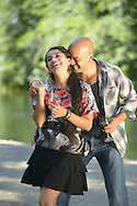 Latin couple dancing,Creek at Red Lily Winery, Jacksonville, Oregon, USA