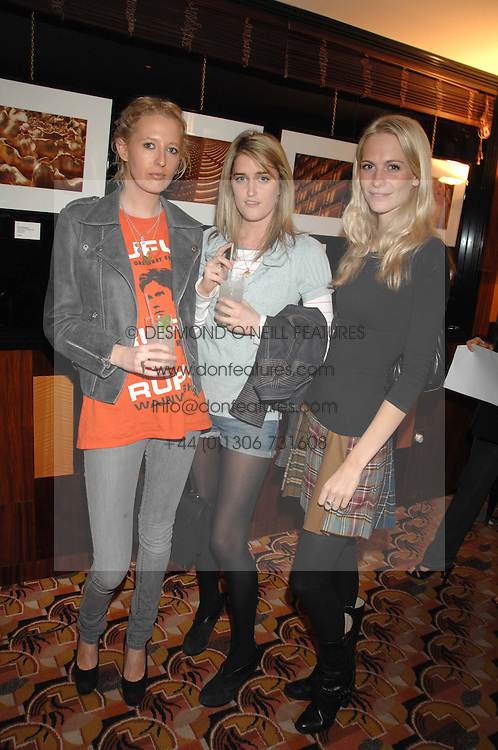 Left to right, the HON.SOPHIA HESKETH, VIOLET VON WESTENHOLTZ and POPPY DELEVINGNE at an exhibition of photographs by Olivia Buckingham held at China Tang, The Dorchester, Park Lane London on 5th March 2007.<br /><br />NON EXCLUSIVE - WORLD RIGHTS