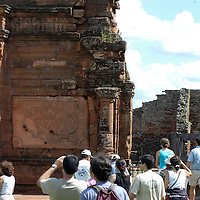 San Ignacio Mini remains and ruins of what used to be Jesuit Missions of the Guaranis , architecture catalogued as colonial baroque or American style. Balastrades, lintels, little Indian faced angels are the impression of the Guarani art, made with clay and stone.Iguazu Falls area Parana River.