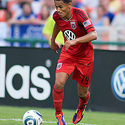 DC United Midfielder Andy Najar during the MLS International friendly match between Everton FC of England and DC United...Everton FC Defeated DC United 3-1 Saturday, July 23, 2011, at  RFK Stadium in Washington DC.